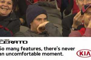 A Kia Ad Embarrases a Spectator to Promote the Kia 'Cerato'