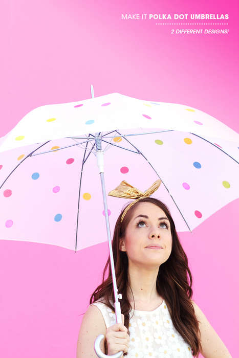 DIY Polka Dot Parasols - This Umbrella by 'Design Love Fest' Will Make Even the Rainiest Day Cheery