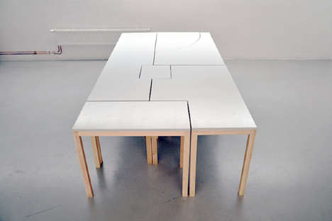 Puzzle Piece Desks - The 7Wonders Modular Table Design can be Reconfigured in Countless Ways