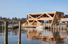 Restored Rustic Wood Pavilions