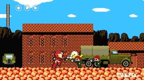8-Bit Iron Man Game
