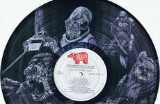 Vinyl Record Sci-Fi Art