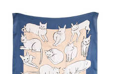 Artist-Inspired Feline Scarves - These Picasso Cat Scarves Charmingly Pays Homage to Picasso
