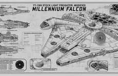 Commemorative Sci-Fi Plaques - Star Wars Techplates Celebrate the Series' Iconic Vessels