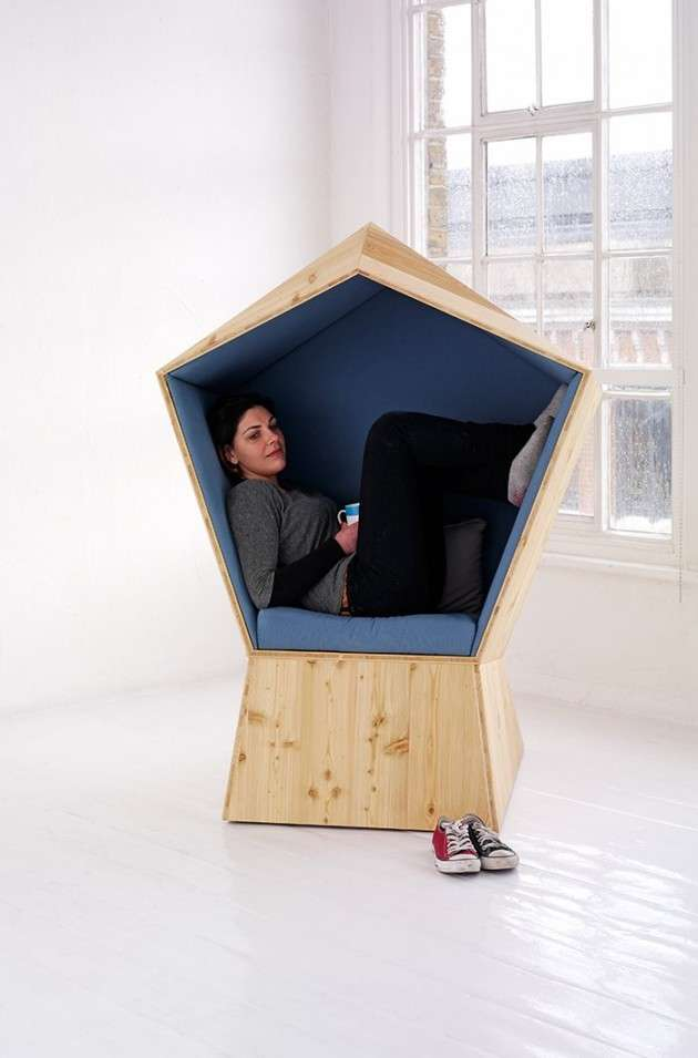 Pentagon-Shaped Cocoon Seating