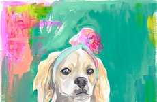 Vibrant Canine Watercolors - Lauren Carlson Walcott's Uses Color to Augment Her Dog Paintings