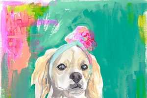 Lauren Carlson Walcott's Uses Color to Augment Her Dog Paintings