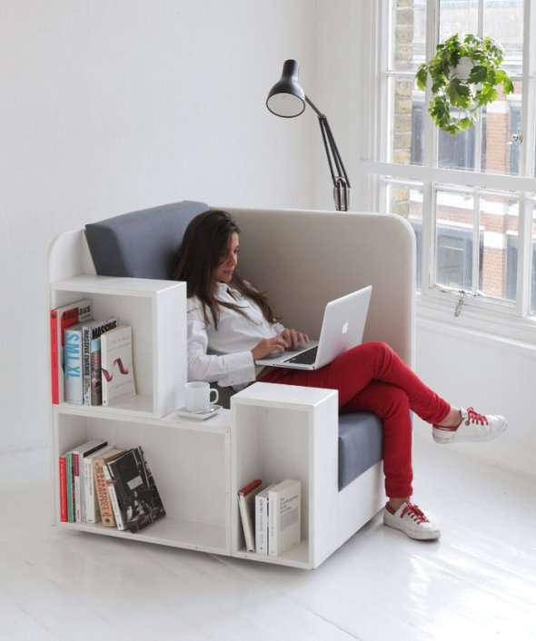 Shelf-Incorporated Seating