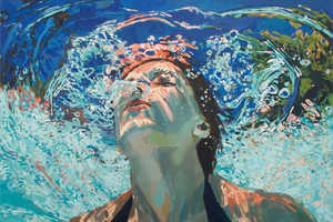 These Colorful Paintings Capture Submerged Swimmers in a Pool
