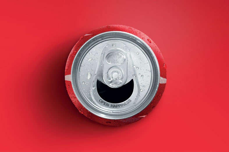Smiling Soda Cans