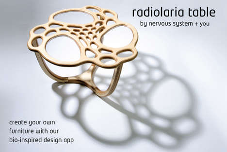 Customized Cellular-Inspired Furniture - The Radiolaria Table by Nervous System is Organically Artsy