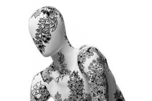 The Inky Bodies Sculptures Detail Models with Intricate Ink