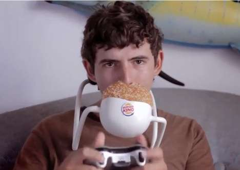 Hands-Free Burger Campaigns - The 'Hands Free Whopper' Lets You Multitask While Eating a Burger