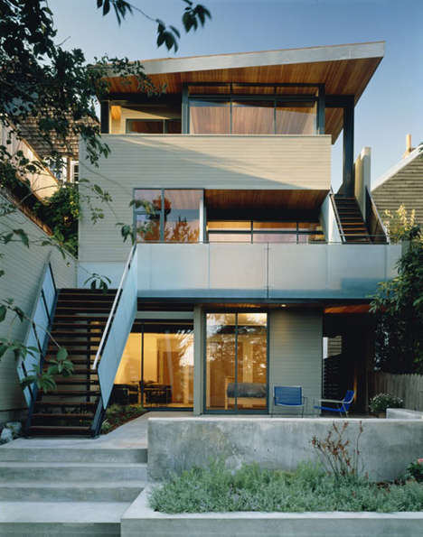 Bipolar Retro-Modern Homes - The Alvarado House is Conservative Up Front But Modern At the Back