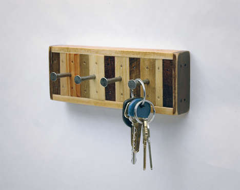 Upcycled Key Racks - These Rustic Hip Key Racks are Made of Wood from Old Shipping Pallets (TrendHunter.com)
