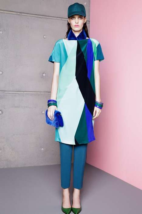 Simple Color-Blocked Frocks - Max Mara Resort 2014 Takes Unexpected Steps for Warm Weather Garments