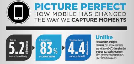 Photographic Evolution Infographics - The Picture Perfect Infographic Examines Mobile Captures (TrendHunter.com)