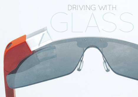 Search Engine Car Accessories - The 'Driving with Google Glass' Infographic Examines Pos (TrendHunter.com)