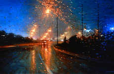 Stormy Windshield Sceneries - Get a Drenched Perspective Through Tom Birkner's Rainy Day Paint