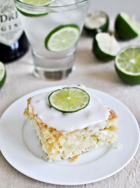 Highball Cocktail Cakes - The 'How Sweet It Is' Gin and Tonic Dessert Infuses a Classic Drink