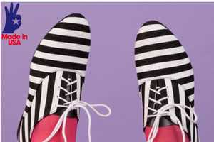 These American Apparel Bobby Strip Shoes are Emblazoned With Horizontal Lines