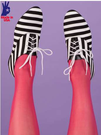 Jail-Striped Oxfords - These American Apparel Bobby Strip Shoes are Emblazoned With Horizontal Lines
