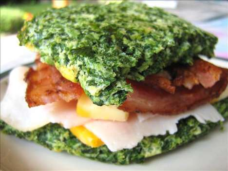 Veggie-Built Bread - This Spinach Carb Creation Will Allow You to Enjoy Sandwiches Guilt-Free