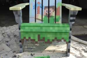 Create Your Own Pixellated Minecraft Design Lawn Chair