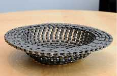 Recycled Bike Chain Bowls