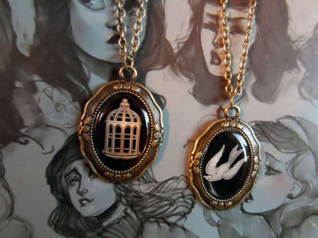 Antiquish Gamer-Inspired Pendants