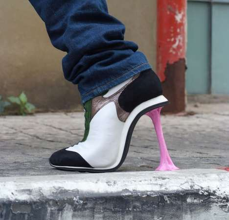 Bubble Gum Pumps - Make a Statement as You Walk with Stuck Chewing Gum Heels