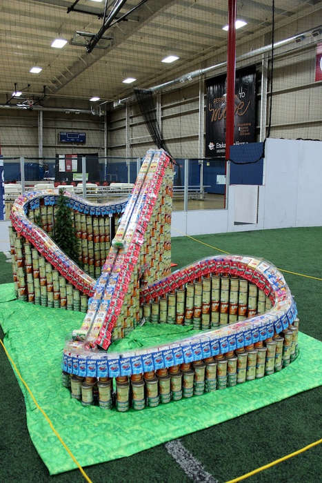 Food Donation Thrill Rides - This Clever Tin Can Roller Coaster was Made for Charity