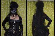 Historical Sci-Fi Costumes - This Victorian Darth Vader Dress is Villainously Sensual