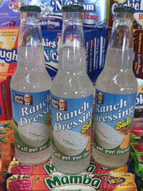 Salad-Flavored Soda Pops - The Ranch Dressing Soda by Lester's Fixins Mixes Sweet with Savory