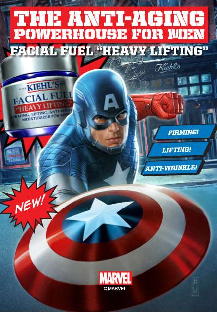 Superhero Skincare Brandings - Kiehl's Facial Fuel Heavy Lifting Cream is Captain America-Approved