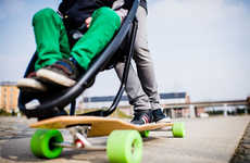 Longboard Strollers - Only Sure-Footed Parents Should Attempt Pushing Kids with This Device