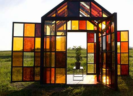Golden Sugar Greenhouses - The Solarium by William Lamson is a Sweet Sun-Powered Cabin
