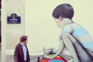 Artist Julien Malland Brings a Childish Quality to Street Murals