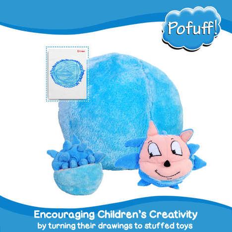 Child-Designed Stuffed Toys - The Pofuff Shop Turns Children's Drawings Into Real Stuffed Toys