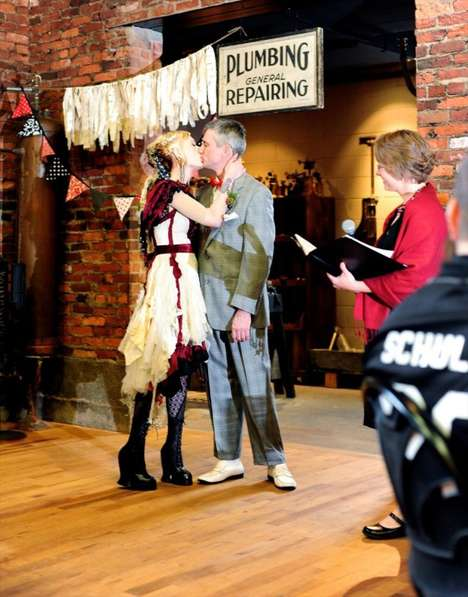 Plumbing-Themed Weddings - This Unconventional Couple Chose a Unique Wedding Theme