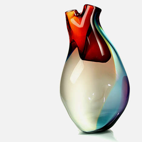 heart-shaped vases