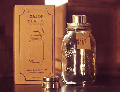mason jar cocktail shakers