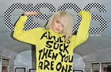 Rebellious School-Defying Fashion - Sky Ferreira Channels a Punk Attitude for the ASOS Taps Cover