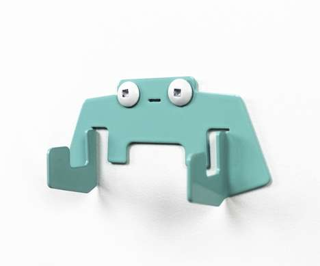 Expressive Robot Hooks - These Robot Hooks by Paul Coconut Smile While You Hang Stuff