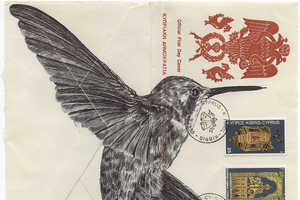 Artist Mark Powell Uses Old Envelopes as His Canvas in This Project