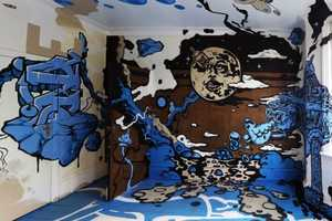 This Interior is Decorated for a Graffiti Art Festival