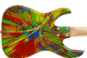 Damien Hirst's Funky Painted Guitars Help Increase Cancer Awareness