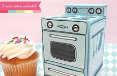 Retro Stove Cupcake Boxes - Claudine Hellmuth Sells Super Cute Cupcake Box Templates