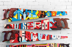 Funky Typographic Hand Saws