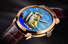 Designer Seascape Watches - The Ulysse Nardin Baltimore Classico Cloisonné Nautical Watches Set